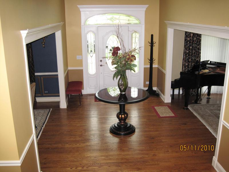 After Picture Of Painted Entryway, Dining Room And Living Room. We Also  Consulted On