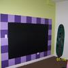 painted wall design using magnetic and chalkboard paint.